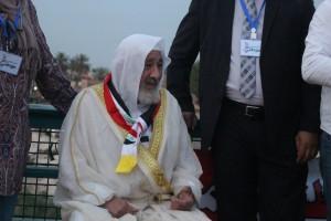 والد الشهيد عثمان العبيدي خلال المهرجان